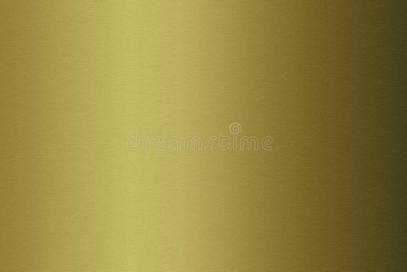 Placa metálica escovada do ouro foto de stock