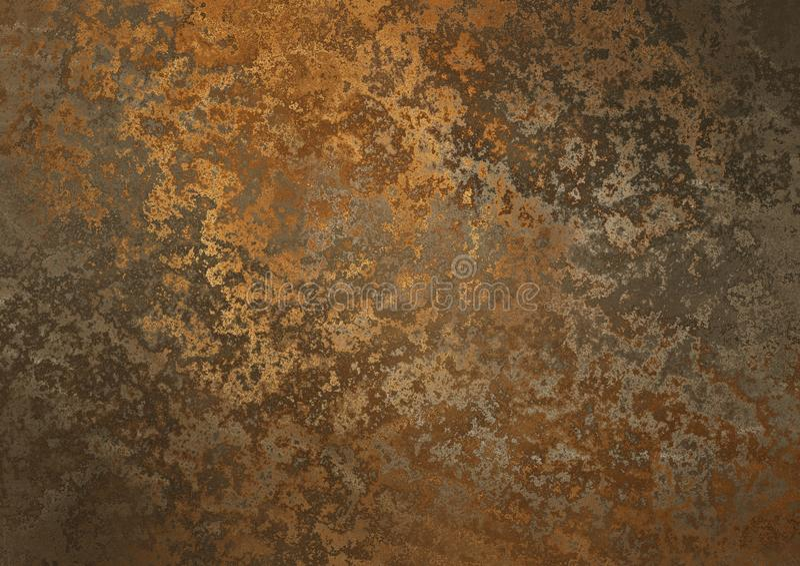 Placa metálica oxidada ilustração stock