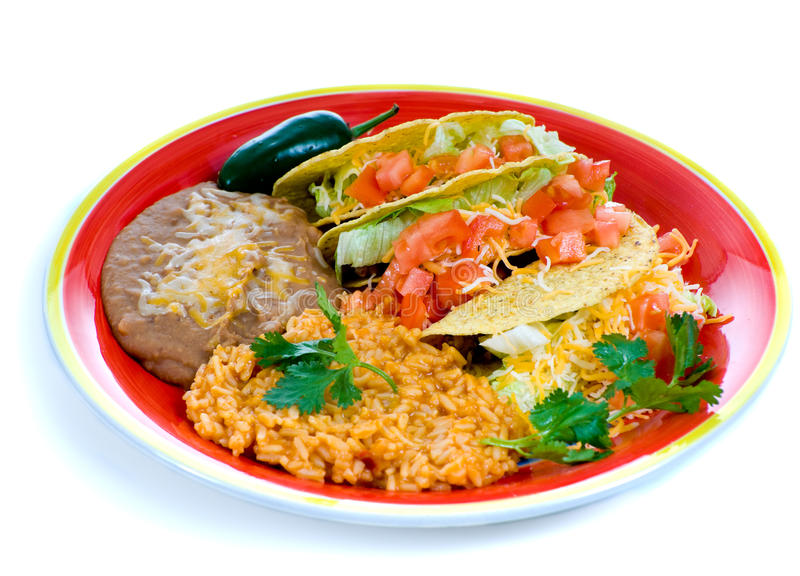 Placa mexicana colorida do alimento imagens de stock royalty free