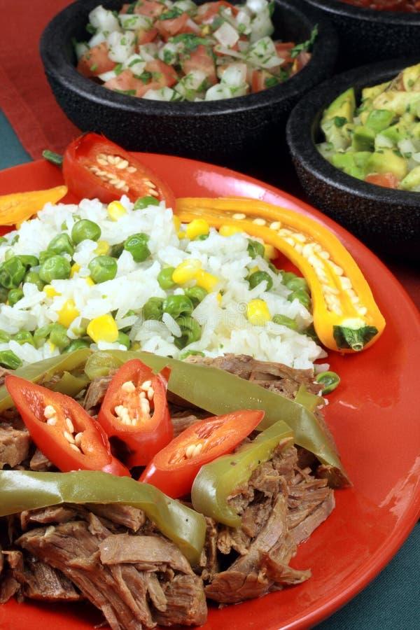 Placa mexicana da carne da festa fotografia de stock royalty free