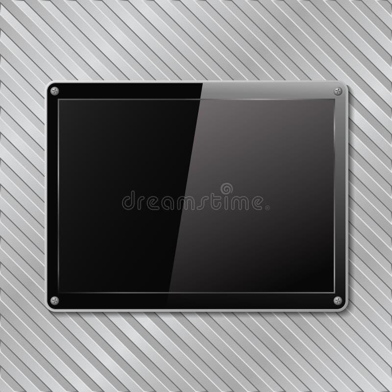 Placa negra ilustración del vector