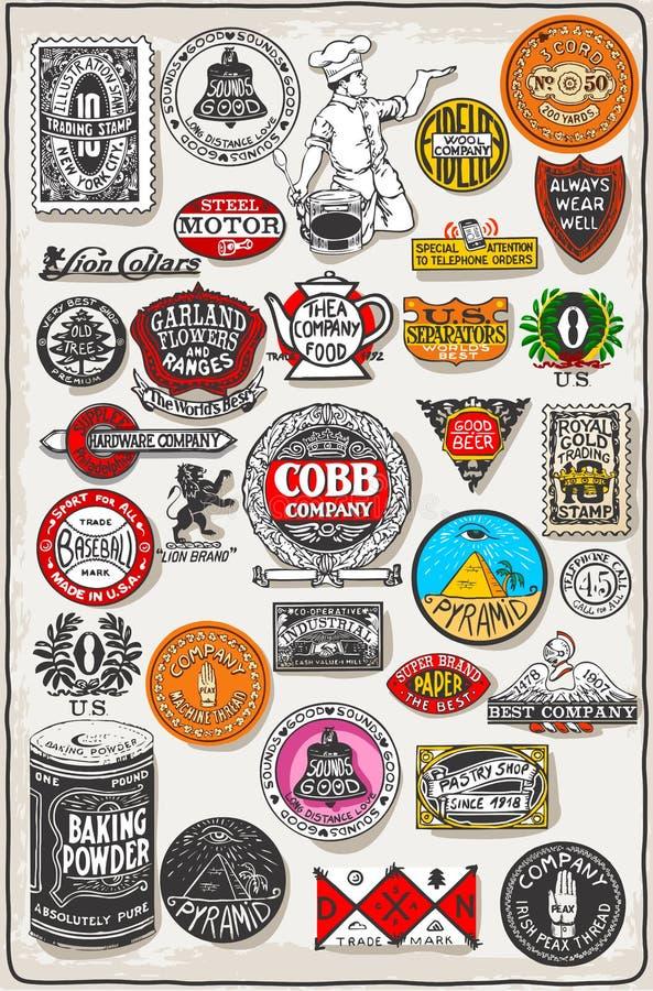 Placa, negro y oro de la etiqueta de California del vintage ilustración del vector