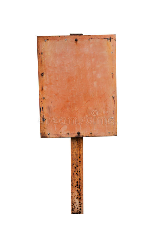 Placa oxidada do sinal do metal fotos de stock royalty free