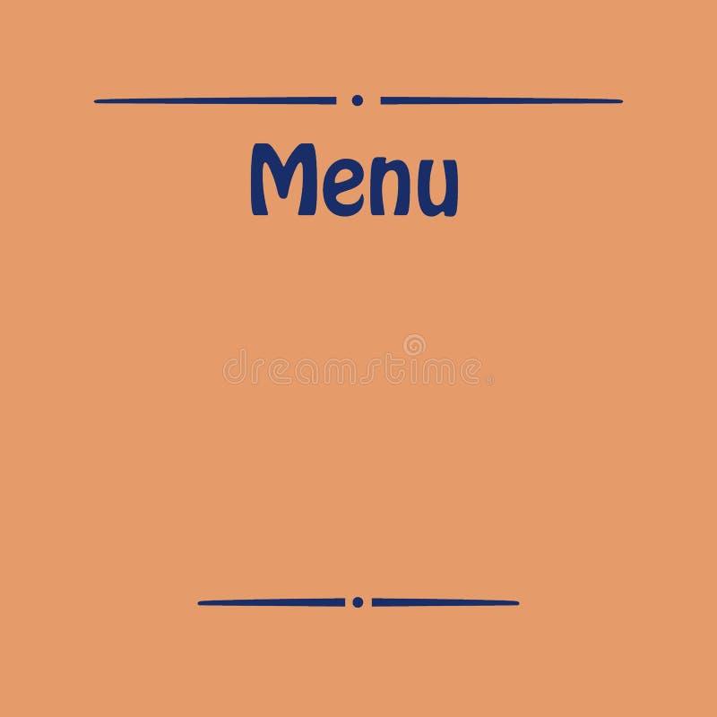 Placa para el menú fotos de archivo