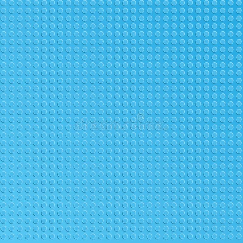 Placa plástica azul de los bloques del constructor stock de ilustración
