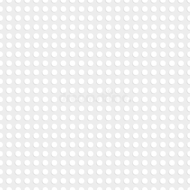 Placa plástica blanca de la construcción Fondo inconsútil del modelo Ilustración del vector stock de ilustración