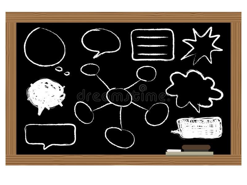 Placa preta ilustração stock