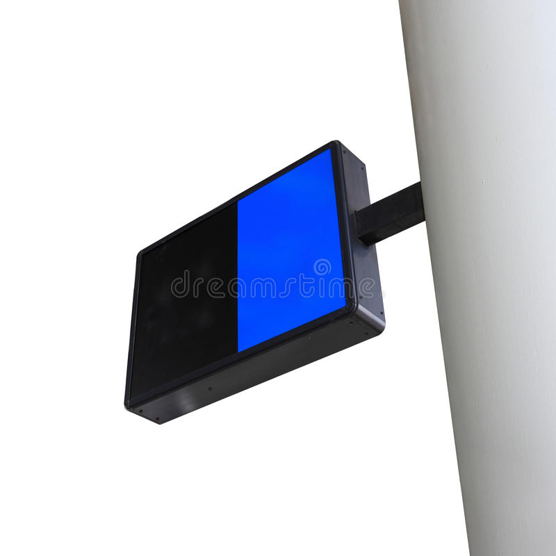 Placa preta e azul do sinal imagem de stock royalty free
