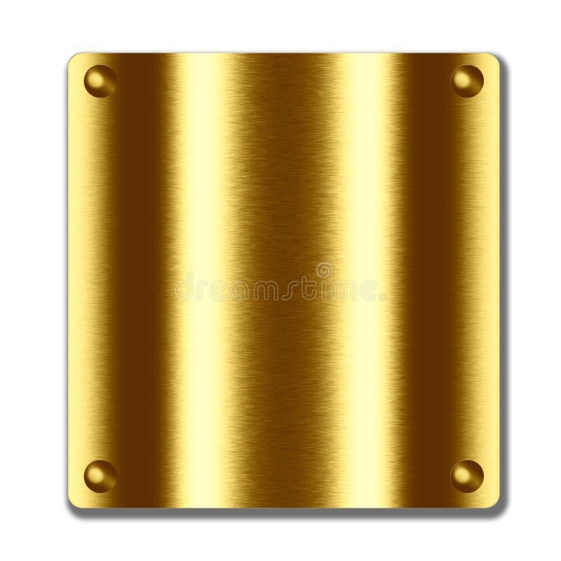 Placa quadrada com os rebites como o fundo do metal ilustração do vetor
