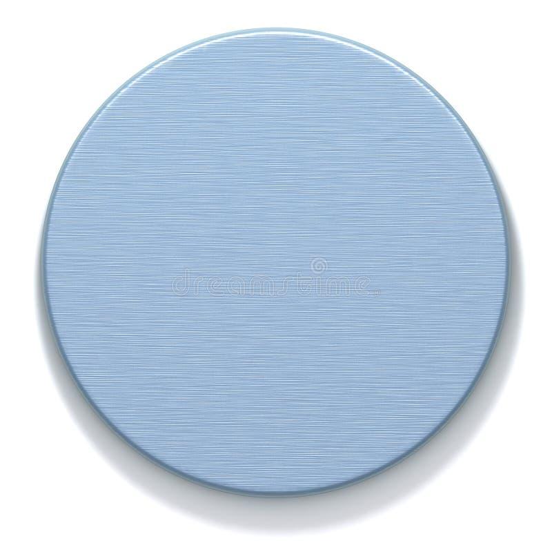 Placa redonda do metal Azure ilustração stock
