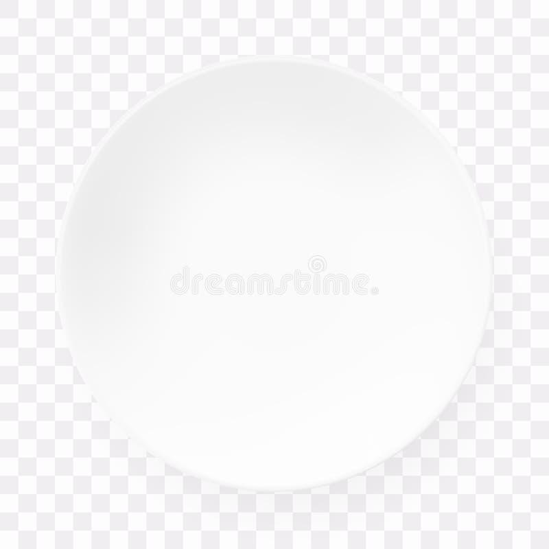 Placa redonda vacía del Libro Blanco en fondo transparente libre illustration