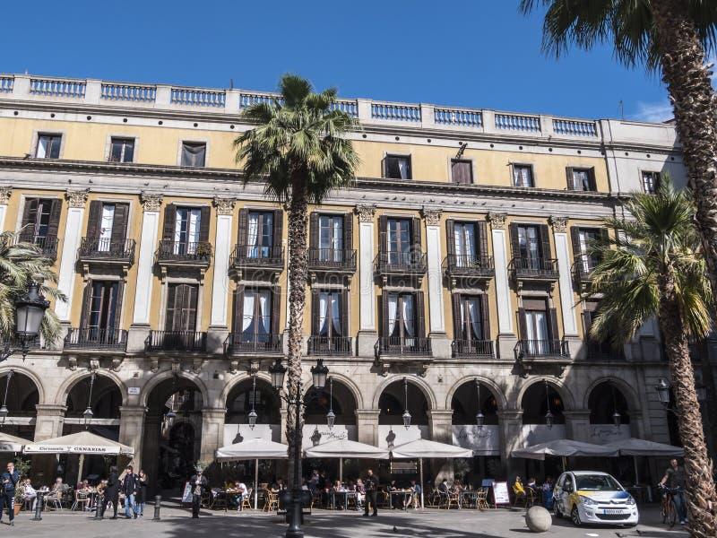 Placa Reial av Barcelona arkivbilder