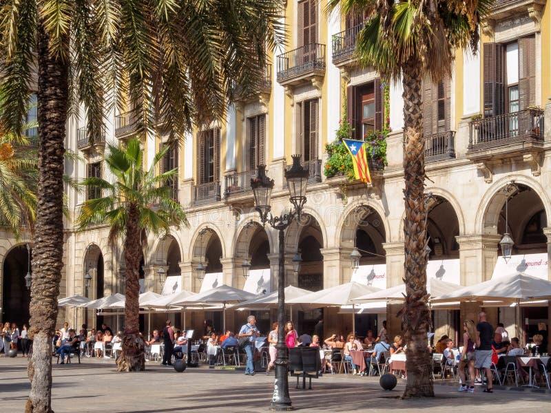 Placa Reial, Barcelona - zdjęcie royalty free