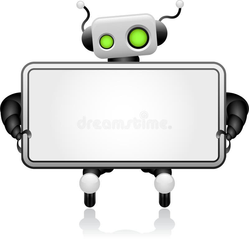 Placa robótico ilustração do vetor