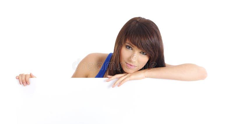 Placa 'sexy' da terra arrendada da mulher imagens de stock