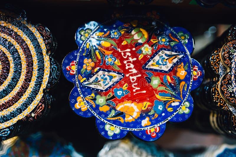 Placa turca da telha foto de stock