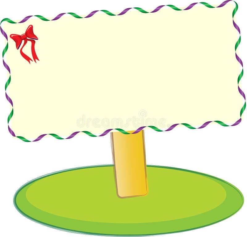 Placa vazia do sinal ilustração royalty free