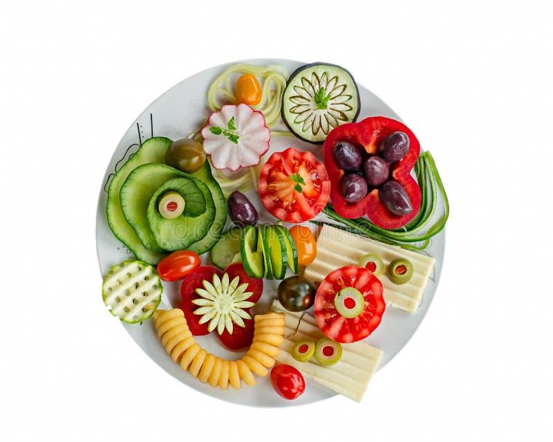 Placa vegetariana del desayuno imágenes de archivo libres de regalías