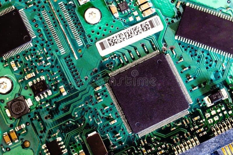 placa velha do disco duro do circuito imagem de stock