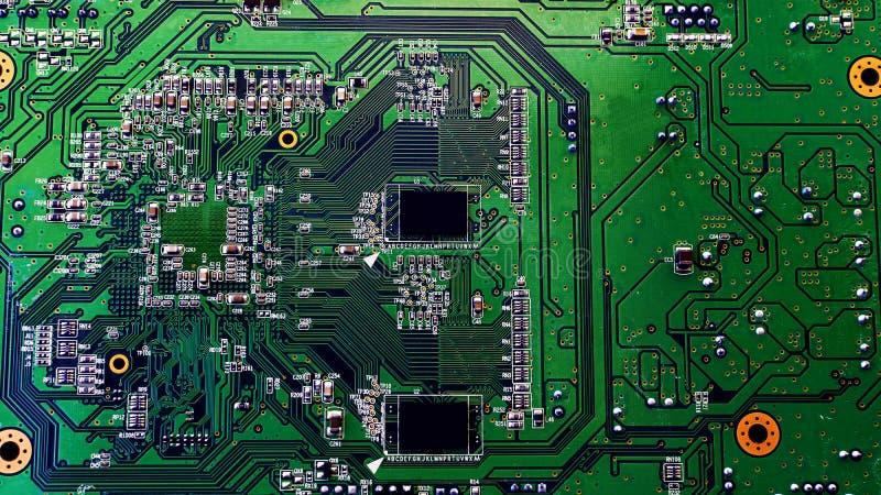 Placa verde del microprocesador fotos de archivo libres de regalías