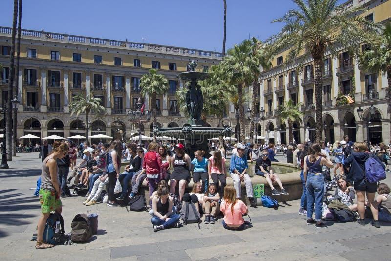 Placa verkliga Barcelona arkivfoton