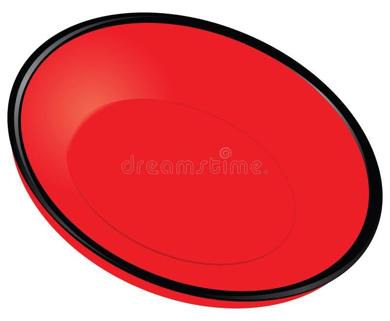 Placa vermelha ilustração stock
