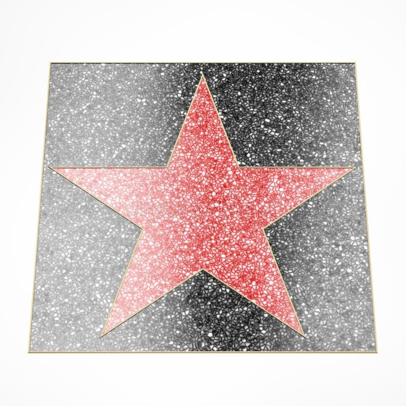 Placa vermelha da estrela ilustração stock