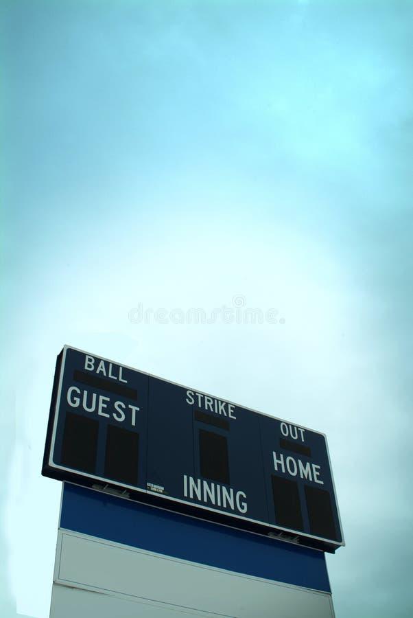 Download Placar do basebol foto de stock. Imagem de fora, atlético - 535486