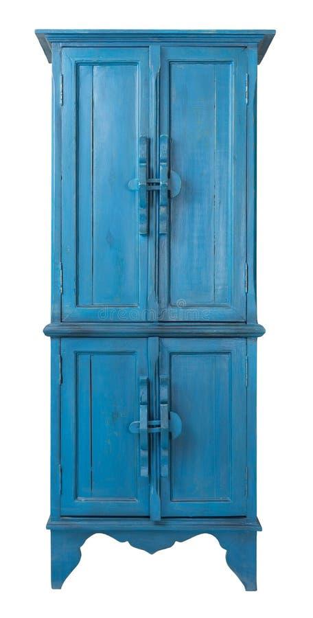 Placard antique en bois de turquoise de vintage d'isolement sur le blanc images stock