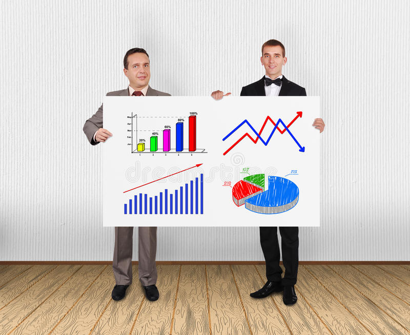 Download Placard with charts stock photo. Image of idea, banner - 32075684