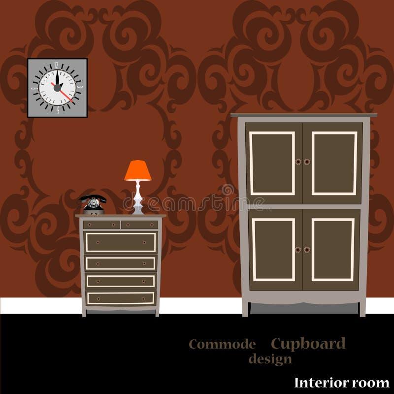Placard et commode illustration stock