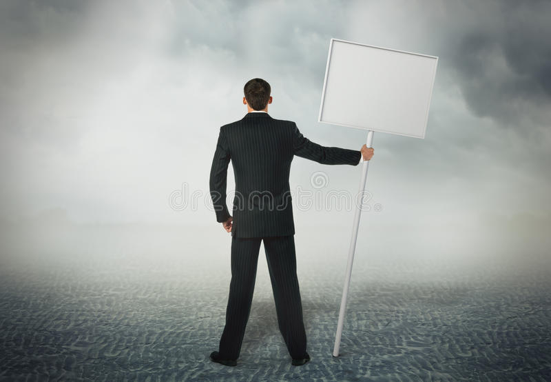 Download Placard In His Hand Royalty Free Stock Photo - Image: 27801405
