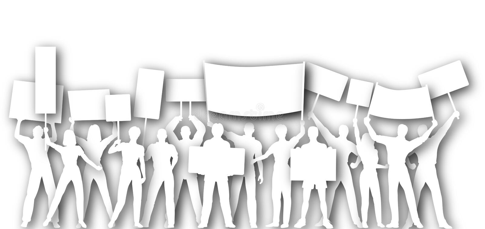 Placard Holders Royalty Free Stock Images