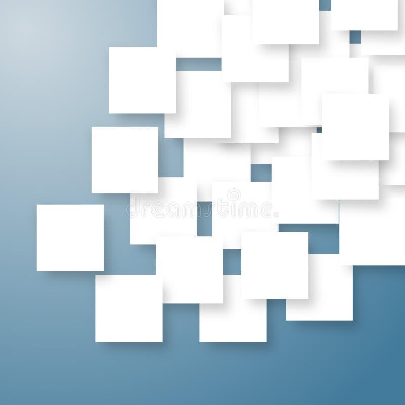 Placas abstractas blancas ilustración del vector