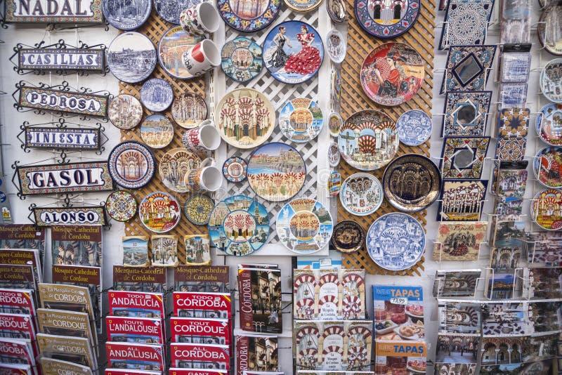 Placas cerâmicas, Córdova, Espanha imagens de stock
