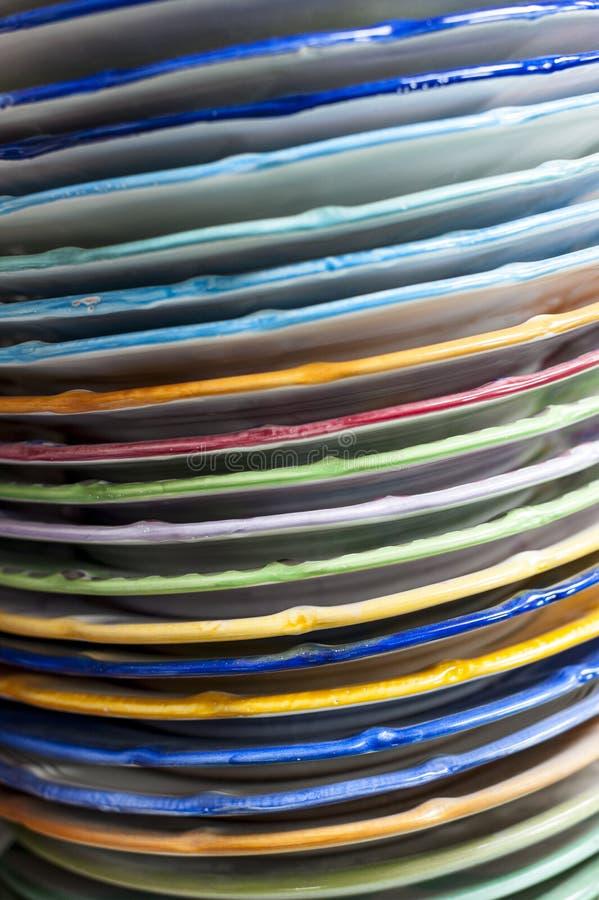 Placas coloridas fotos de archivo libres de regalías