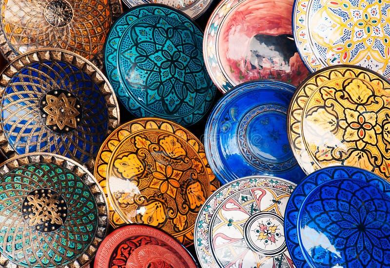 Placas coloridas fotografía de archivo libre de regalías