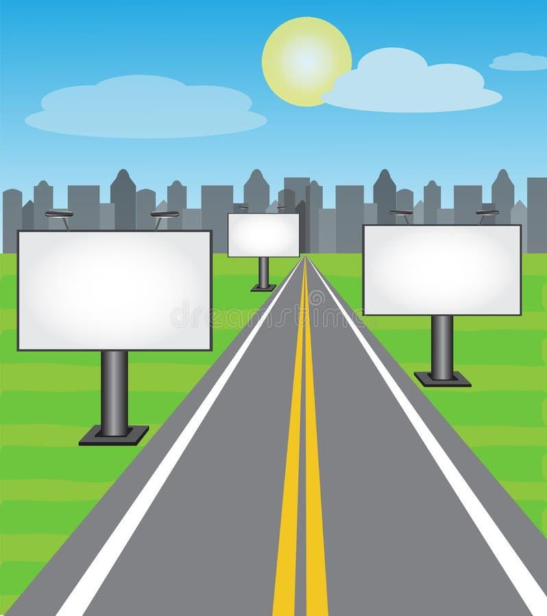 Placas da estrada ilustração do vetor
