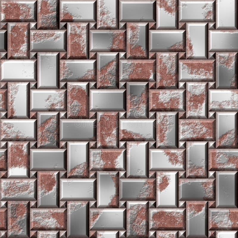 Placas de aço oxidadas Defesa do ferro Fundo sem emenda da textura da armadura fotografia de stock
