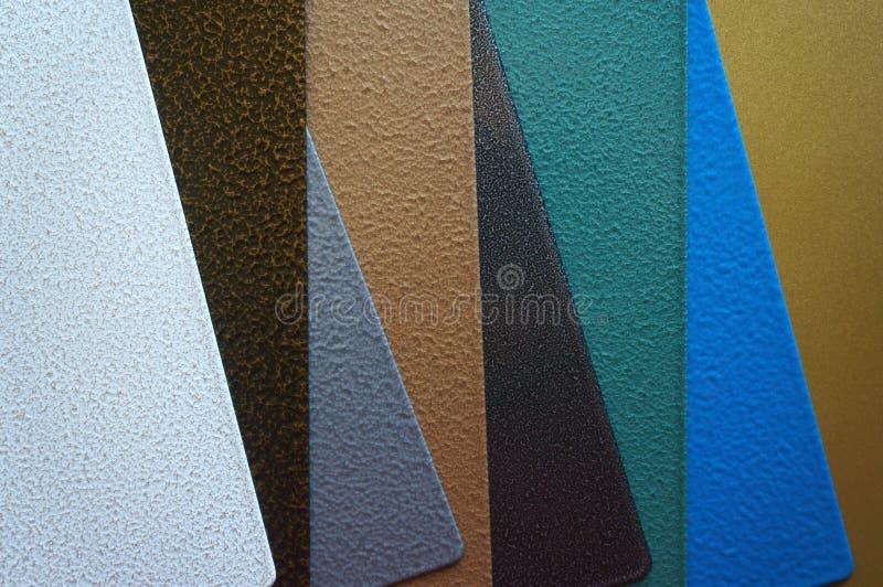 Placas de acero con la capa del polvo fotos de archivo libres de regalías