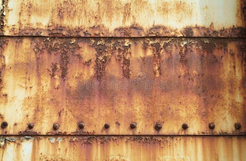 Placas de acero oxidadas, pintadas fotografía de archivo