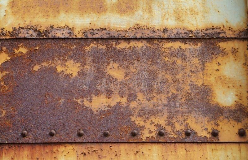 Placas de acero oxidadas, viejas fotos de archivo