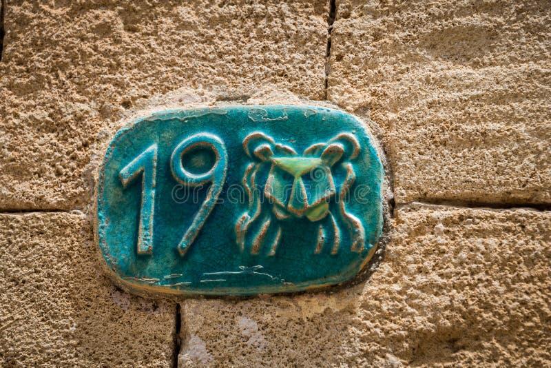 Placas de calle del zodiaco fotografía de archivo libre de regalías