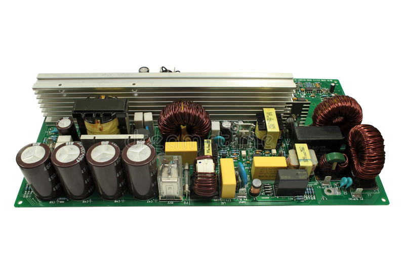 Placas de circuito eletrônico. foto de stock