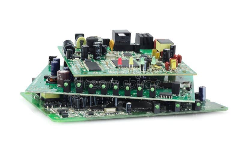 Placas de circuito eletrônico fotografia de stock royalty free