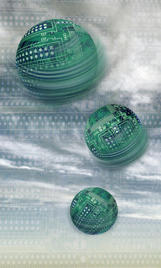 Placas de circuito esféricas foto de stock royalty free