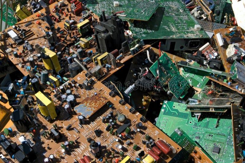 Placas de circuito velhas imagens de stock