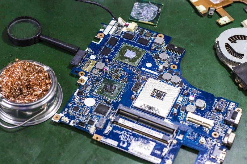 Placas de circuito y equipo electrónico imagen de archivo libre de regalías