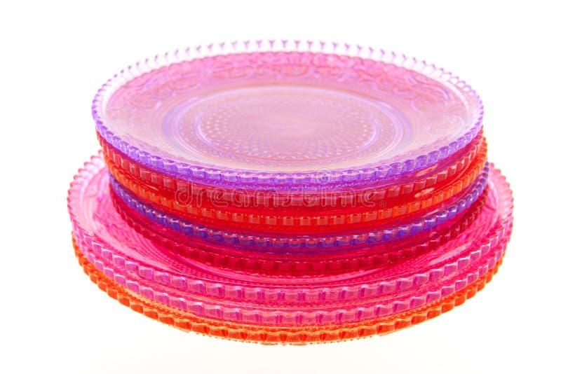 Placas de cristal foto de archivo