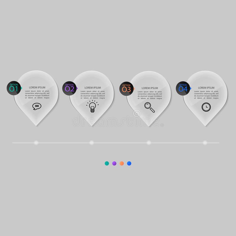 Placas de cristal fijadas, diseño infographic libre illustration